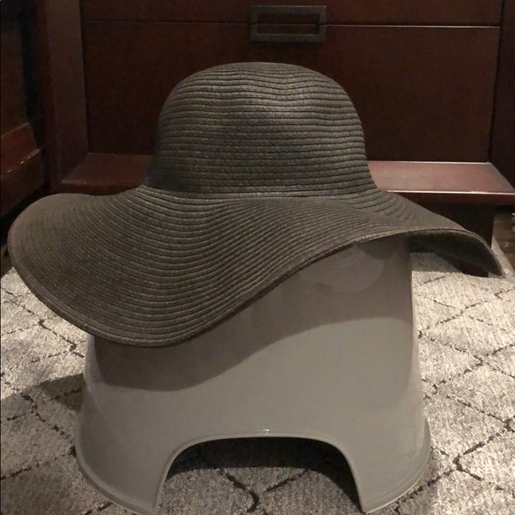 JCrew Black Straw Hat